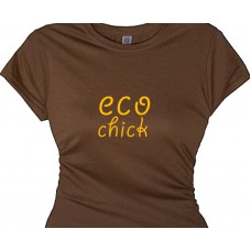 eco chick--vegetarian earth saying t shirt